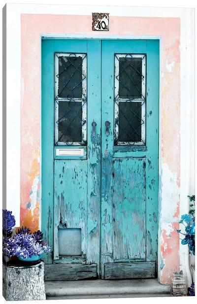 Old Turquoise Door Canvas Art Print