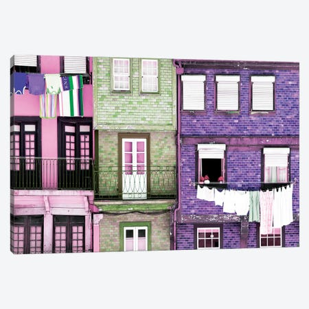 Beautiful Colorful Traditional Facades Canvas Print #PHD608} by Philippe Hugonnard Canvas Wall Art
