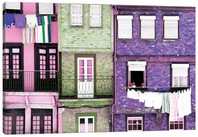 Beautiful Colorful Traditional Facades Canvas Art Print