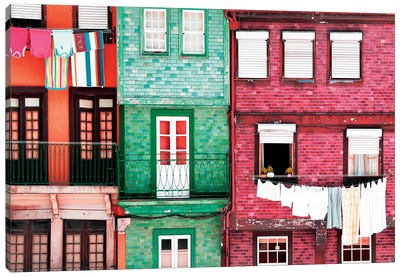 Beautiful Colorful Traditional Facades II Canvas Art Print