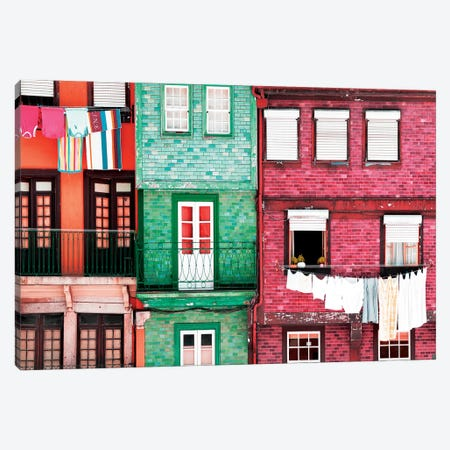Beautiful Colorful Traditional Facades II Canvas Print #PHD609} by Philippe Hugonnard Canvas Wall Art