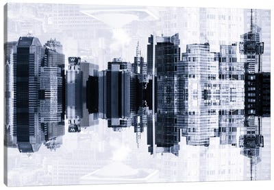 New York Reflection - Times Square Buildings Canvas Print #PHD60