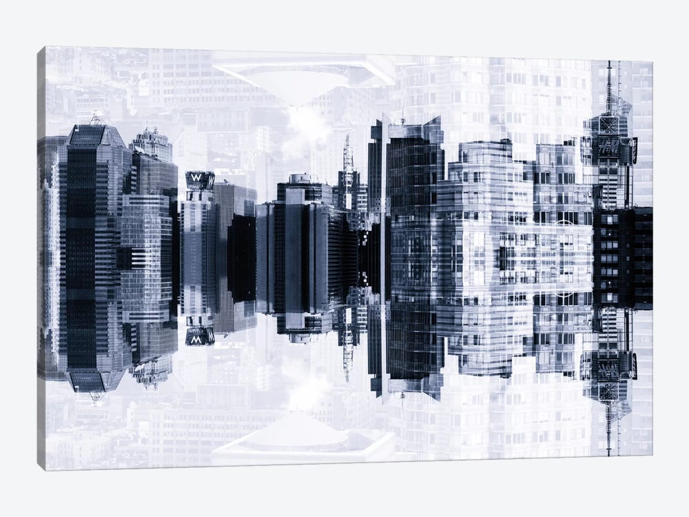 New York Reflection - Times Square Buildings by Philippe Hugonnard 1-piece Canvas Wall Art