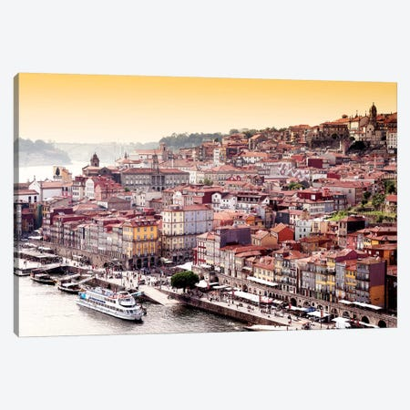 Ribeira View at Sunset - Porto Canvas Print #PHD611} by Philippe Hugonnard Art Print