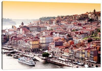 Ribeira View at Sunset - Porto Canvas Art Print
