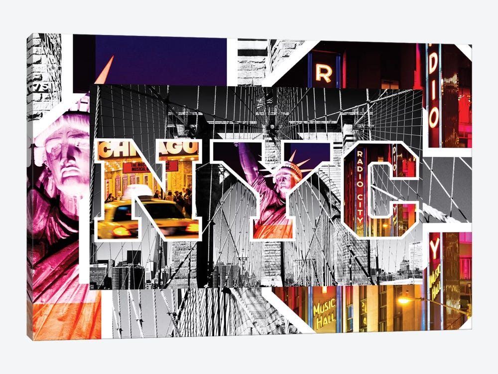 NYC by NYC - Brooklyn Bridge by Philippe Hugonnard 1-piece Art Print