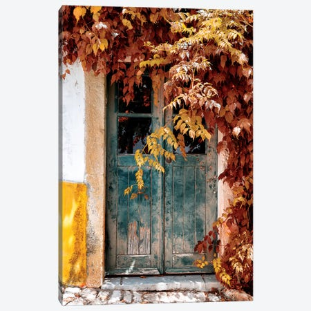 Old Door with Fall Colors Canvas Print #PHD623} by Philippe Hugonnard Canvas Wall Art