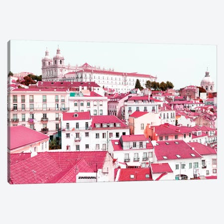 Incredible Lisbon Pink Canvas Print #PHD624} by Philippe Hugonnard Canvas Art Print