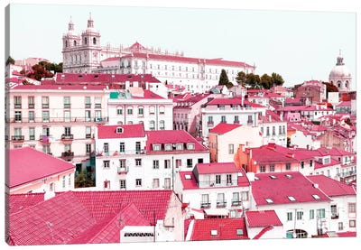 Incredible Lisbon Pink Canvas Art Print