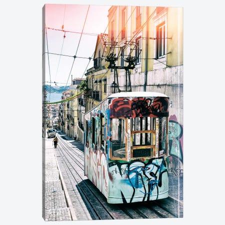 Lisbon Tram Graffiti Canvas Print #PHD625} by Philippe Hugonnard Art Print