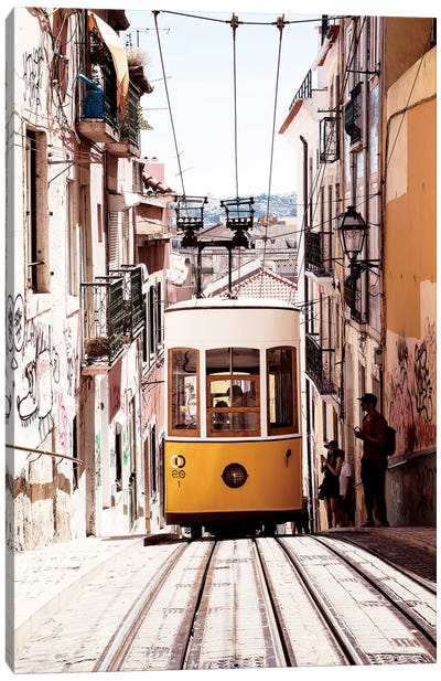 Bica Yellow Tram Canvas Art Print