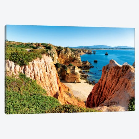 Lagos Beach Canvas Print #PHD629} by Philippe Hugonnard Canvas Art