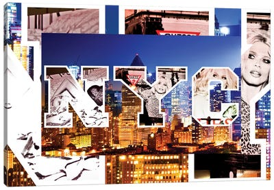 NYC by NYC - Manhattan Buildings Canvas Art Print