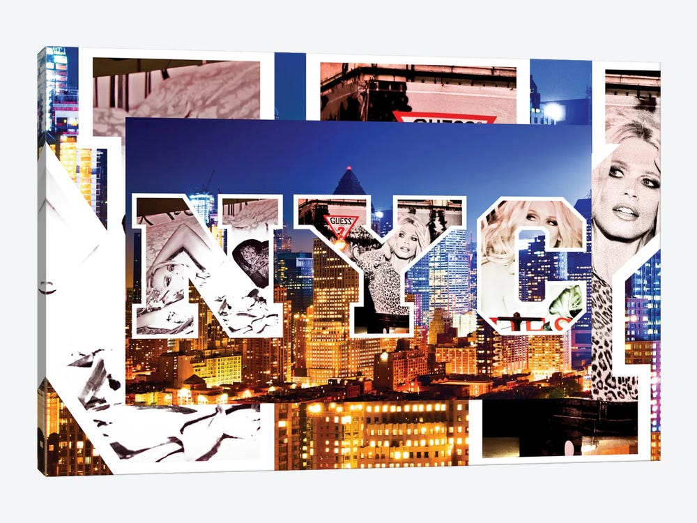 NYC by NYC - Manhattan Buildings by Philippe Hugonnard 1-piece Canvas Wall Art