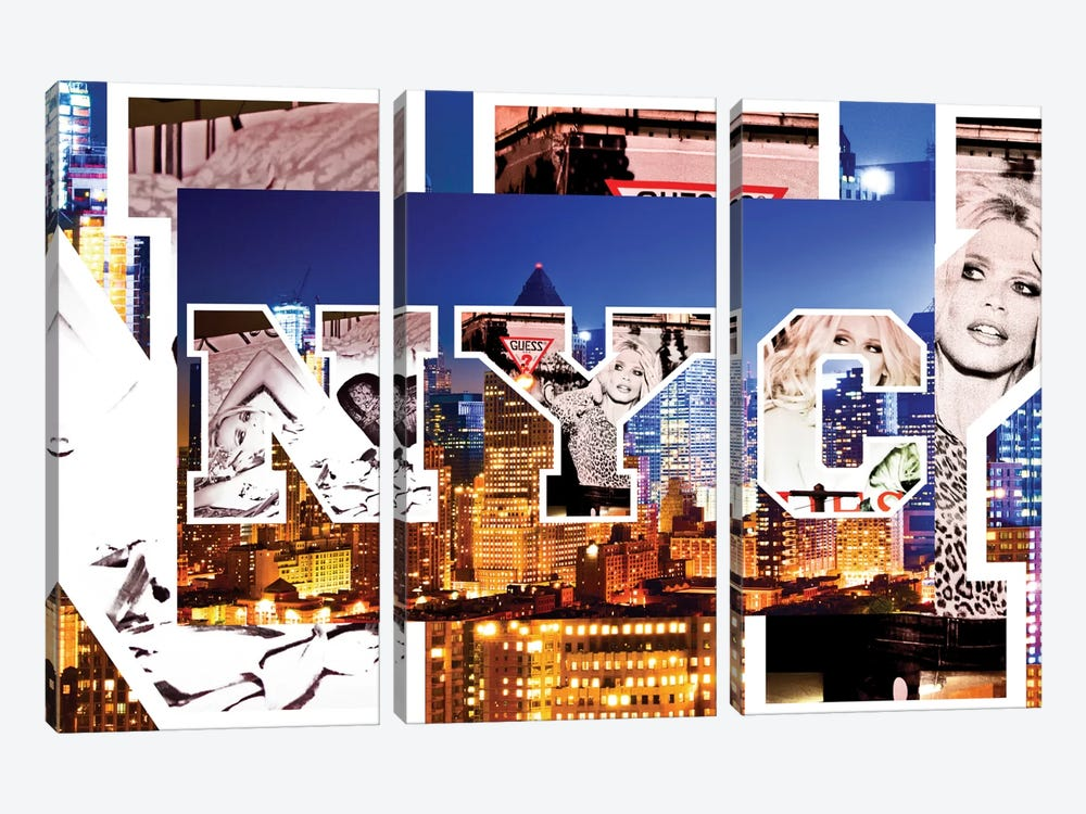 NYC by NYC - Manhattan Buildings by Philippe Hugonnard 3-piece Canvas Wall Art