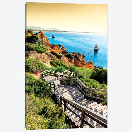 Stairs to Camilo Beach at Sunset Canvas Print #PHD630} by Philippe Hugonnard Art Print