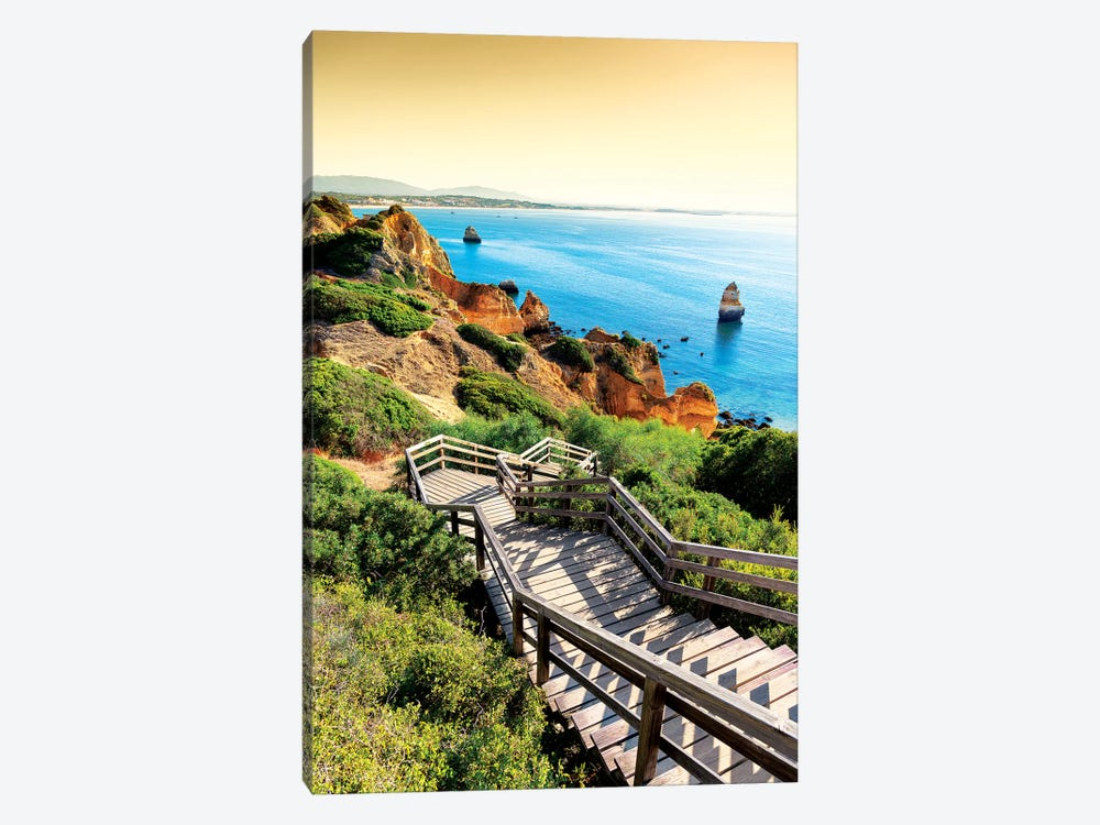 Stairs to Camilo Beach at Sunset by Philippe Hugonnard 1-piece Art Print