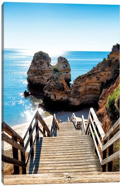 Stairs to the Beach Canvas Art Print