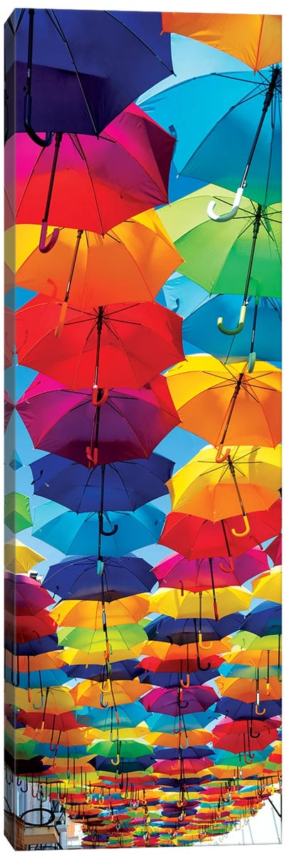 Colourful Umbrellas Canvas Art Print