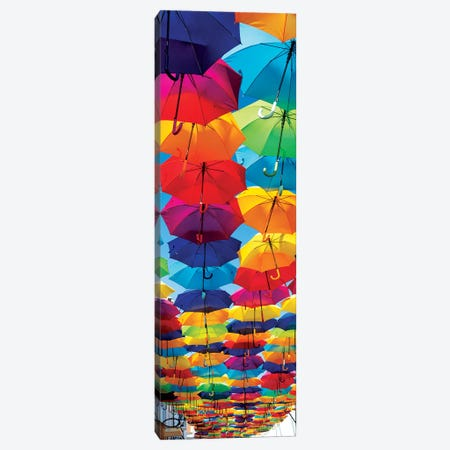 Colourful Umbrellas Canvas Print #PHD637} by Philippe Hugonnard Canvas Wall Art