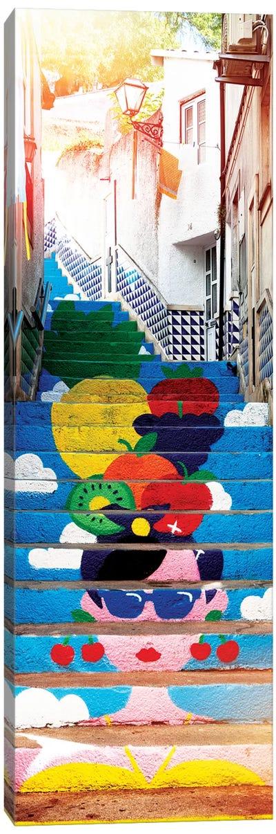 Tropical Staircase Canvas Art Print