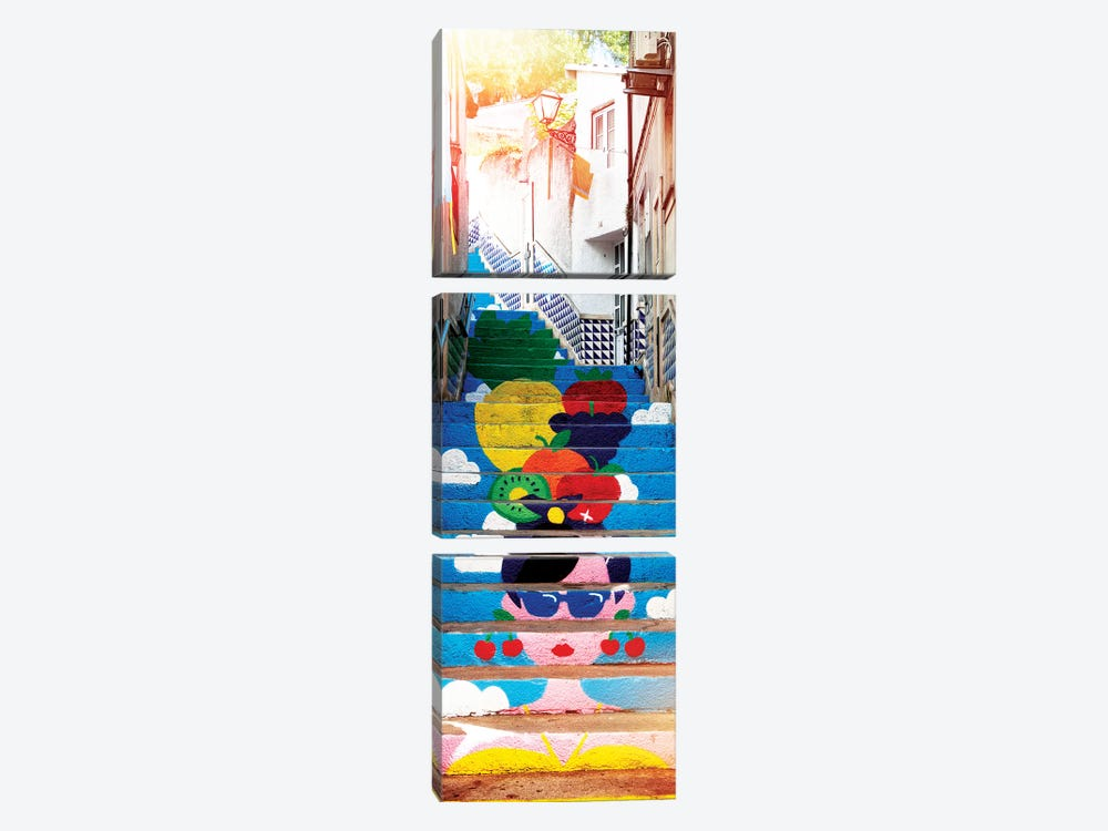 Tropical Staircase by Philippe Hugonnard 3-piece Canvas Print