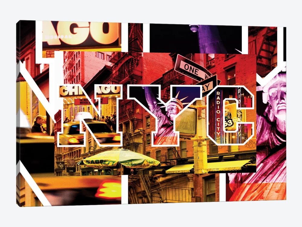 NYC by NYC - Manhattan Night by Philippe Hugonnard 1-piece Canvas Print
