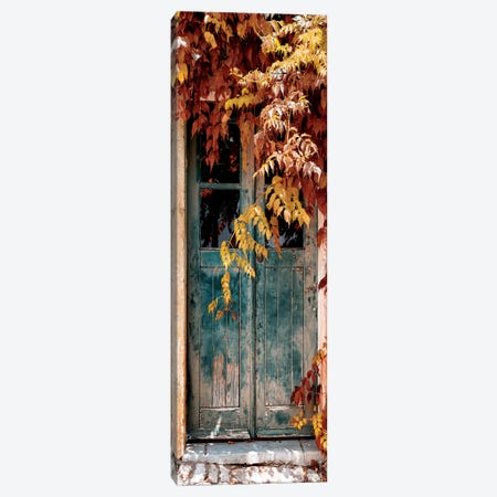 Old Door with Fall Colors Canvas Print #PHD645} by Philippe Hugonnard Art Print
