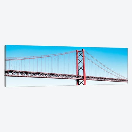 The Lisbon Bridge Pop Art Canvas Print #PHD649} by Philippe Hugonnard Canvas Wall Art