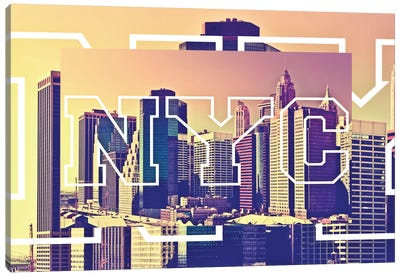 NYC by NYC - New York Buildings Canvas Art Print