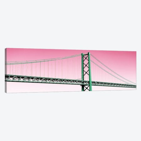 Welcome to Portugal  - The Lisbon Bridge Pop Art II Canvas Print #PHD650} by Philippe Hugonnard Canvas Print