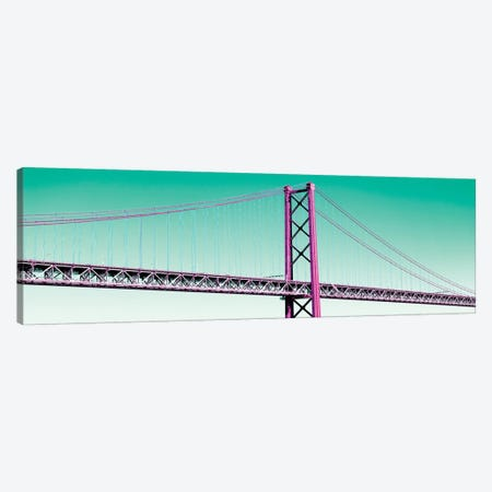 The Lisbon Bridge Pop Art III Canvas Print #PHD651} by Philippe Hugonnard Canvas Print