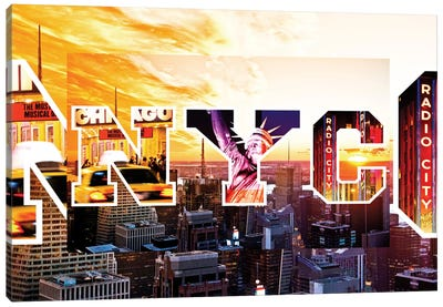 NYC by NYC - Sunset Canvas Art Print