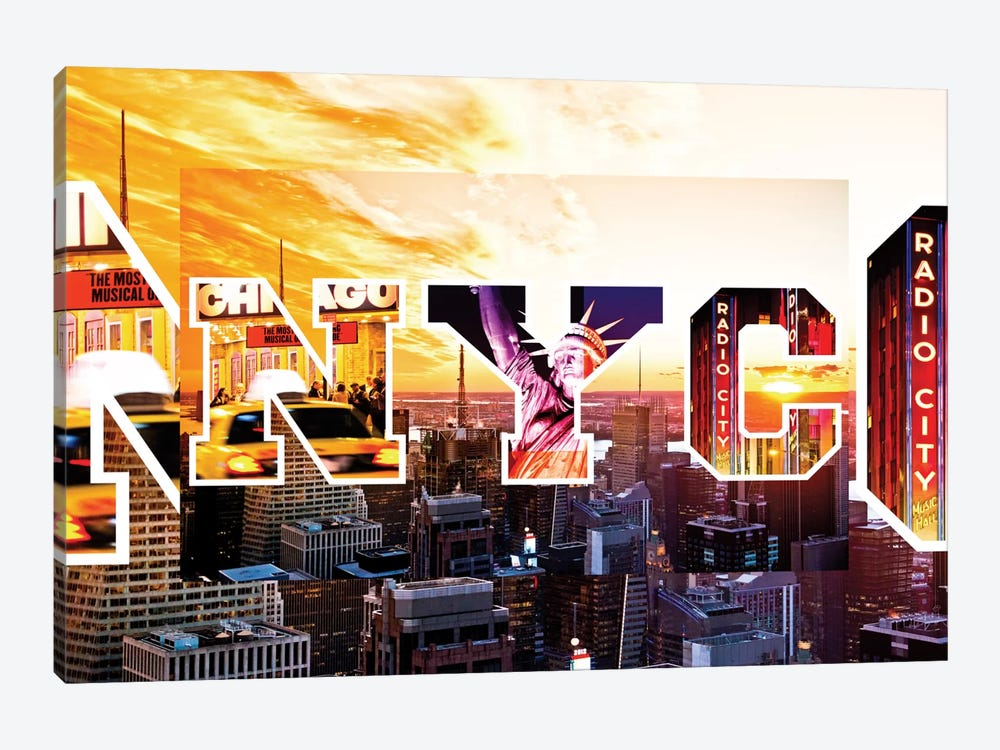 NYC by NYC - Sunset by Philippe Hugonnard 1-piece Canvas Print