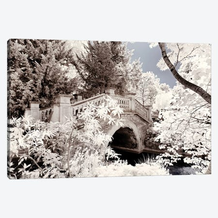 Paris Winter White Collection - Crossed The Bridge Canvas Print #PHD668} by Philippe Hugonnard Canvas Wall Art