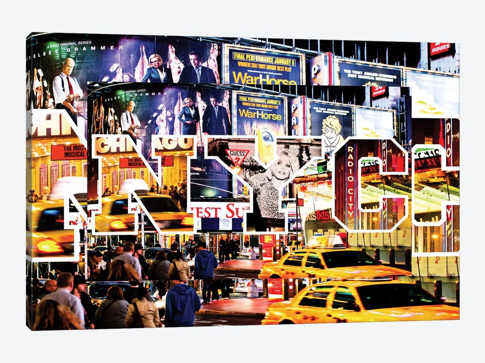 NYC by NYC - Times Square by Philippe Hugonnard 1-piece Canvas Wall Art