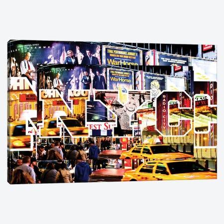 Times Square Canvas Print #PHD66} by Philippe Hugonnard Art Print