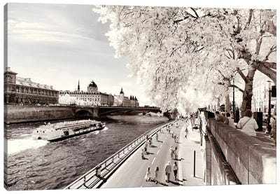 On The Seine Canvas Art Print