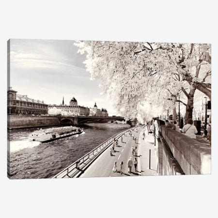 On The Seine Canvas Print #PHD679} by Philippe Hugonnard Canvas Art Print