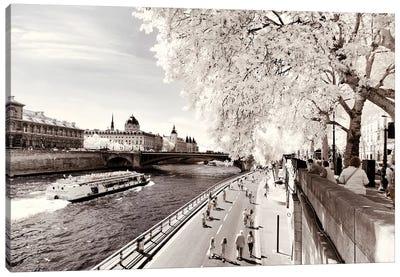 On The Seine Canvas Art Print