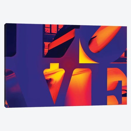 NYC POP ART - Love Sign Canvas Print #PHD67} by Philippe Hugonnard Art Print