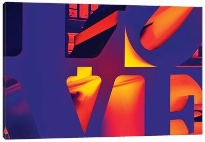 NYC POP ART - Love Sign Canvas Print #PHD67