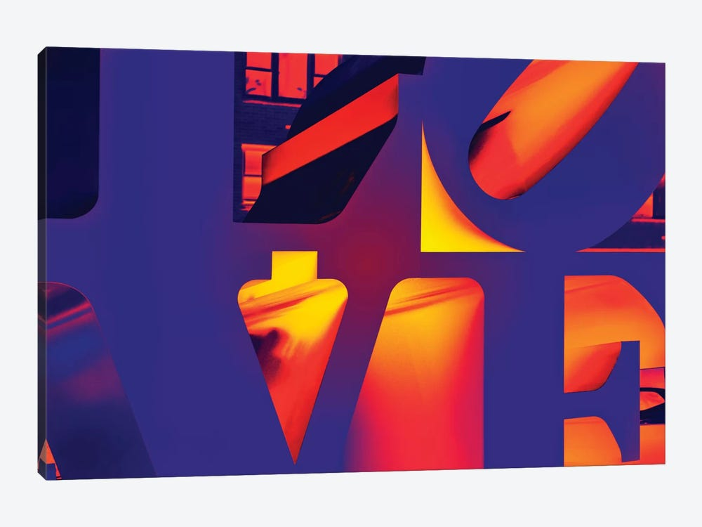 NYC POP ART - Love Sign by Philippe Hugonnard 1-piece Canvas Print