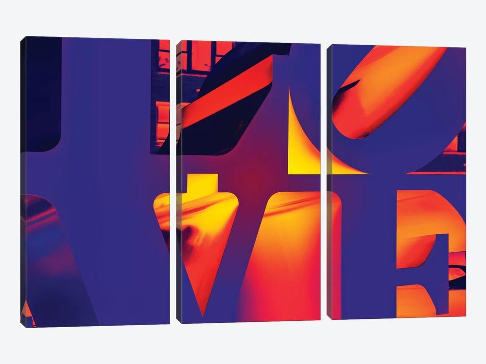 NYC POP ART - Love Sign by Philippe Hugonnard 3-piece Canvas Art Print