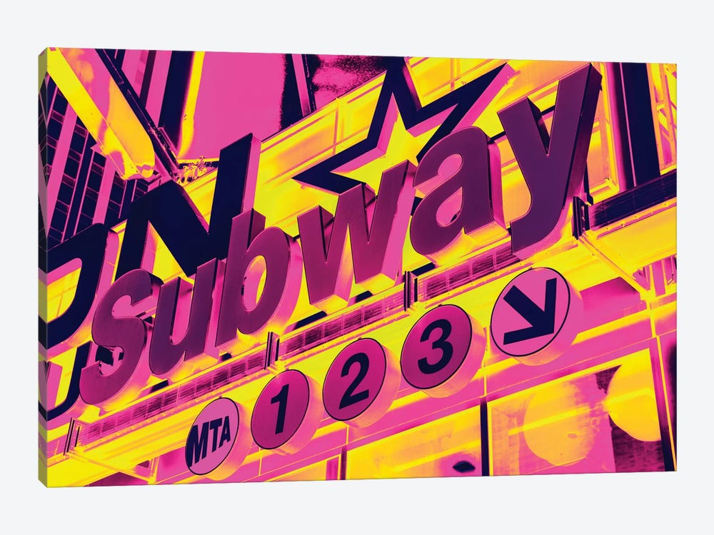 NYC Subway Sign by Philippe Hugonnard 1-piece Canvas Art