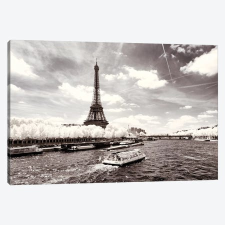 The River Seine Canvas Print #PHD694} by Philippe Hugonnard Canvas Wall Art