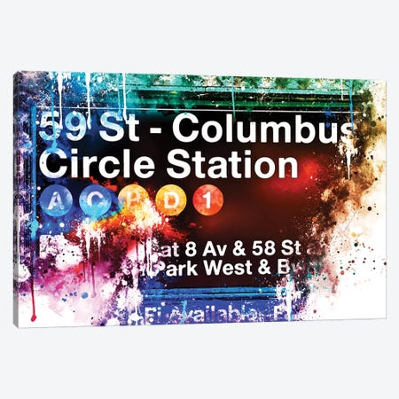 59 St Columbus Circle Station Canvas Print #PHD698} by Philippe Hugonnard Canvas Art Print