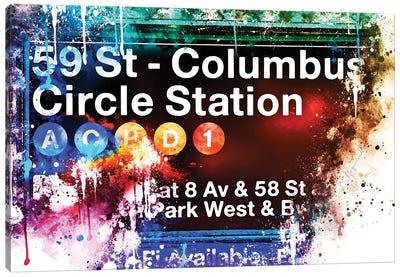 59 St Columbus Circle Station Canvas Art Print