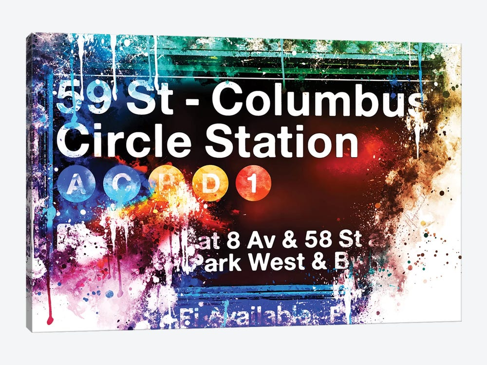 59 St Columbus Circle Station by Philippe Hugonnard 1-piece Art Print