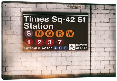 Subway Times Square - 42 St Station Canvas Art Print